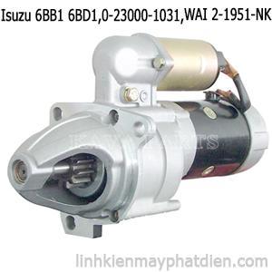 Củ đề máy phát điện Isuzu 6BB1 6BD1 Starter 24V