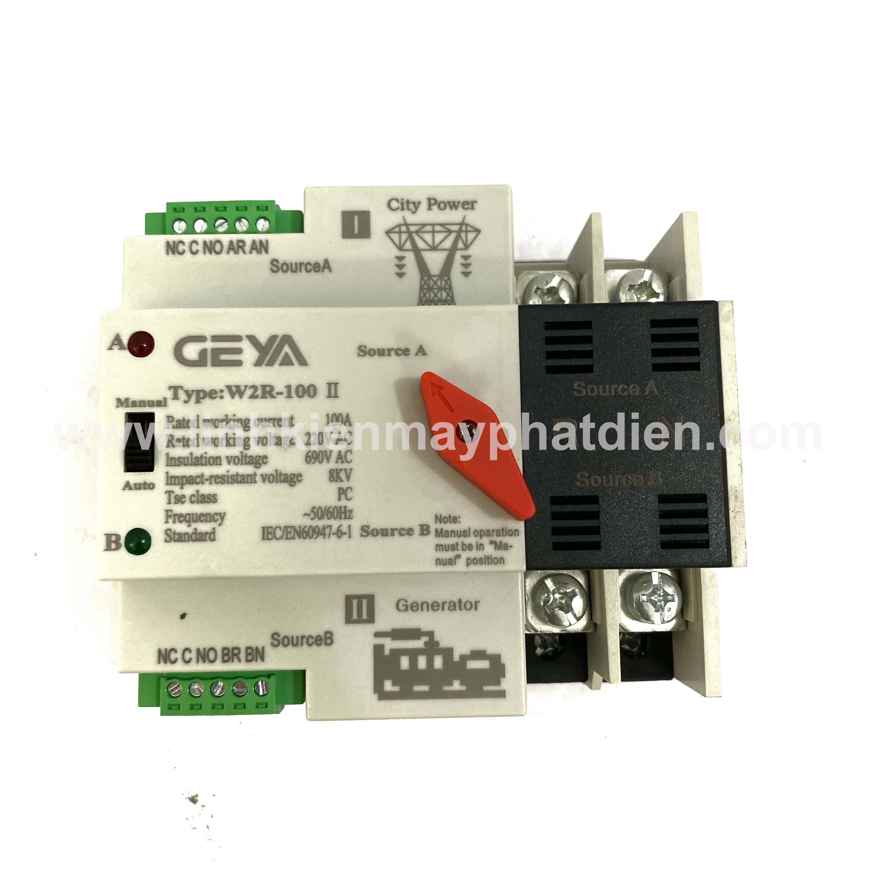 Bộ chuyển nguồn ATS 100A 2P LW chuyển đổi 2 nguồn điện tự động không gây mất điện
